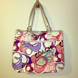 Coach Poppy Montage Glam Tote Bag